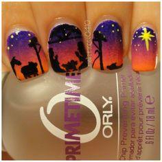 christmas nails this is awesome such a huge story in nails so cute and awesome Christmas Gel Nails, Holiday Nail Art, Fall Nail Art, Gorgeous Nails, Love Nails, Fun Nails, Shellac Nails, Acrylic Nails, Finger Nail Art