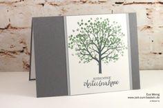 Grief - - Tree of Mourning – Time to Craft (Stampin Up) - Stampin Up Karten, Karten Diy, Diy Stationery Storage, Garage Design, Baby Scrapbook, Four Seasons, Grief, Kids Playing, Stamping