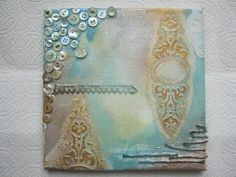 Good morning everyone, Today is the day that I learn to use Gesso and texture paste on Mixed media canvas!   This is an awesome site, gives ...