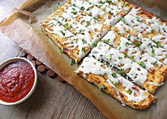 Grain Free Low Carb Cheesy Bread Sticks Recipe on Yummly Low Carb Recipes, Cooking Recipes, Healthy Recipes, Healthy Snacks, Healthy Eating, Cheesy Breadsticks, Good Food, Yummy Food, Go For It