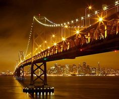 Bridges such as San Francisco's Bay Bridge is so well-designed and rests in such a beautiful setting, they've become destinations themselves.