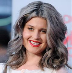 Not sure why, but I'm totally daffy for how she is pulling this look off!  Kelly Osbourne Explains Her New Gray Hair Color