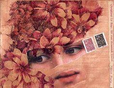 Mailart pour Christine Le Roy  by Hania Destelle