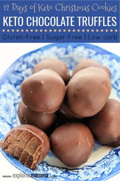 Holiday keto chocolate truffles are the perfect gluten-free, low carb, sugar-free treat for any special occasion. Chocolate Truffles, Craving Chocolate, Chocolate Brownies, Keto Smoothie Recipes, Keto Recipes, Diabetic Smoothies, Healthy Recipes, Keto Approved Foods, Keto Diet Vegetables