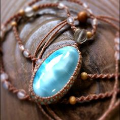 Larimar ... one of my favorite stones ... I love this color ... like the caribbean sea on a perfect day