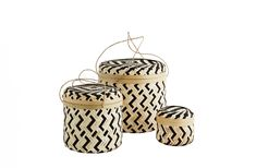 Set 3 x Cutie rotunda din bambus cu capac /natural Wicker Baskets, Best Sellers, Natural, Home Decor, Bamboo, Decoration Home, Room Decor, Nature, Woven Baskets