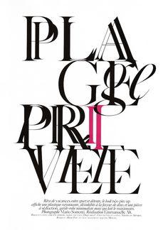 Vogue Paris: Editorial Type Treatments