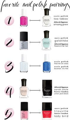 Favorite Nail Polish Pairings | STYLE'N