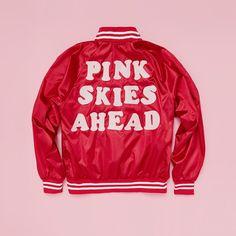 pink skies ahead bomber jacket