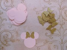 Baby Minnie Mouse Head Shapes Princess Gold by sandylynnbscrapping
