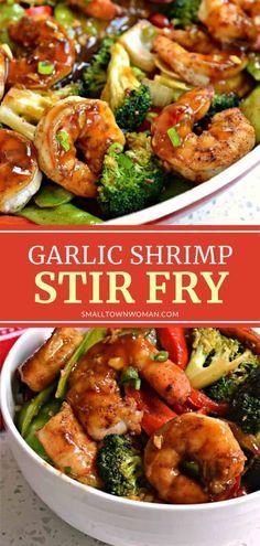Shrimp Recipes For Dinner, Shrimp Recipes Easy, Seafood Recipes, Garlic Shrimp Recipes, Shrimp With Garlic Sauce Recipe, Shrimp And Snow Peas Recipe, Meals With Shrimp, Shrimp In Garlic Sauce, Chinese Shrimp Recipes