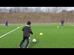 Fussballtraining: Dreieckpass - Passen - Technik - YouTube