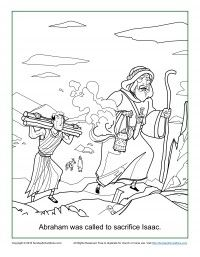 abraham and isaac coloring page bible coloring pages