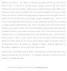 —The Gender of Sound, Anne Carson
