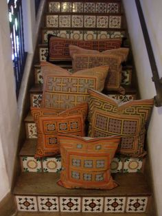 Incredible vintage textiles handmade/embroidered by the Hmong Hill Tribe of Southe East Asia made into pillows