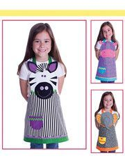 New Sewing Patterns - Safari Friends Child's Aprons Sewing Pattern Sewing Aprons, Sewing Clothes, Diy Clothes, Sewing For Kids, Baby Sewing, Sewing Hacks, Sewing Crafts, Couture Bb, Childrens Aprons