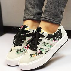 Women flat shoes 2018 New Arrivals printed women canvas shoes woman breathable shoes sneakers tenis feminino