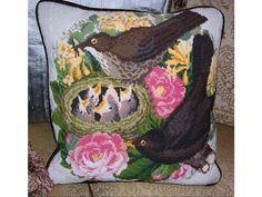 ELIZABETH BRADLEY tapestry needlepoint chart only BLACKBIRDS NEST birds animals
