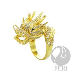 Whats more random then a sparkling gold dragon on your hand?!! :) GWT Galleries, FERI Designer Lines, FERI MOSH - kmboffey
