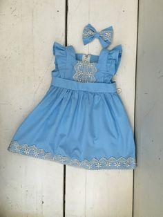 hand made vintage inspired baby and toddler dresses. This dress is inspired by Cinderella . The Ella Dress - Blue by EvaRoseBoutique on Etsy Blue Dresses, Casual Dresses, Girls Dresses, Summer Dresses, Diy Dress, Dress Outfits, Dress Ideas, Toddler Girl Dresses, To My Daughter