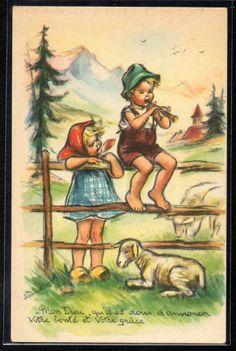 DN161 A S Bouret Berger Moutons Enfants   eBay