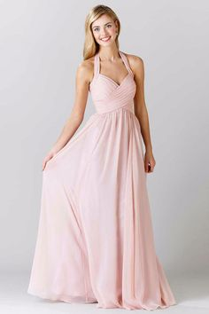 Robe cocktail mariage rose pale