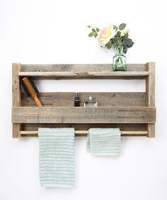 DelHutson Designs Rustic Towel Rack/Shelf by DelHutson Designs #zulily #zulilyfinds