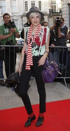 Agyness Deyn at Westfield London & BFC - Fashion Forward Launch Style, Daily Fashion, Suspenders For Women, Street Style, Agyness Deyn, Fashion, European Fashion, Fashion Outfits, Cool Outfits