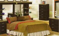 Clarion Bedroom Collection-Queen Wall Bed with Piers $1,099.99 ...