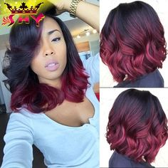 Cheap wig stock, Buy Quality wig factories directly from China wig orange Suppliers: 2016 New Fashion Wavy Glueless Full Lace Wigs Human Hair & Lace Front Wigs For Black Women Malaysian Virgin Hair U P Micro Braids Hairstyles, Weave Hairstyles, Girl Hairstyles, Summer Hairstyles, Curly Hair Styles, Natural Hair Styles, Red Wigs, Burgundy Hair, Red Hair