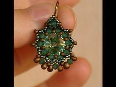 ▶ Sidonia's handmade jewelry - Baroque earrings (12mm rivoli bezel) - YouTube