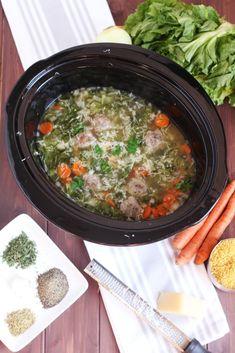 Crock Pot Italian Wedding Soup | Recipe | Thighs, Wedding soup and ...