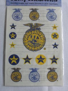 FFA emblem sentiment stickers for scrapbooking by CraftsNextDorr on Etsy