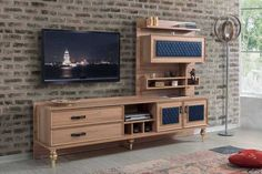 Üniteler Modern Tv Wall Units, Tv Unit Design, Tv Cabinets, Luxury Furniture, New Homes, Living Room, Table, House, Consoles