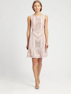 Valentino - Sleeveless Guipure Dress - Saks.com