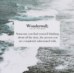 There is a song called this & love that song! Just incase you don't know what wonderwall means... Here it is... Enjoy!