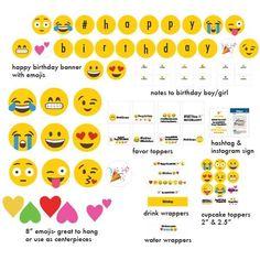 Emoji Instagram party | http://CatchMyParty.com