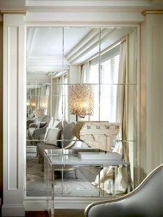 Mirror wall Interior - Amazing Wall Mirror Design Ideas for Dining Room. Luxury Interior, Interior Design, Interior Ideas, Interior Styling, Interior Decorating, Spiegel Design, Entryway Mirror, Contemporary Wall Mirrors, Modern Wall