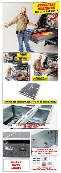 Features of the heavy duty Titan Ute Drawers 4WD 4x4 best price quality