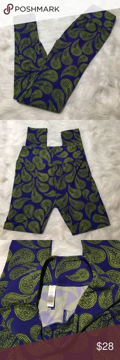 LuLaRoe OS Leggings Blue Green Floral Paisley NWOT LuLaRoe OS Leggings Blue Green Floral Paisley NWOT - purchased directly from consultant and color is not great with my light skin tone just looking to get back what I paid thank you for interest. LuLaRoe Pants Leggings