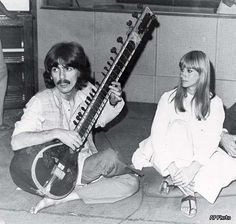 George Harrison with his Sitar