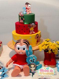 Festa Turma da Mônica - bolo de papel