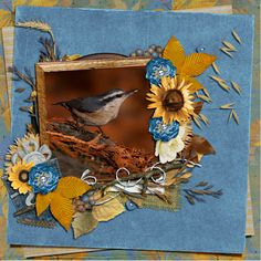 """Created using elements provided free for the October Progressive Scrap from #theStudio. All elements part of the """"October Mega: Rustic Fall"""" #digitalScrapbooking Photo by pbase user reflectionsofnature (used with permission)."""
