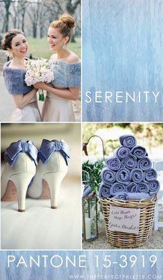 The Perfect Palette nos trae ideas de decoración de bodas en azul serenity.