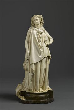 Albert-Ernest Carrier-Belleuse, The Countess of Castiglione in a costume of Queen of Etruria, National Museum of the Chateau of Compiegne. Joan Of Arc Statue, Ernest, Architectural Antiques, Rodin, National Museum, 19th Century, Sculpting, Carving, Bronze