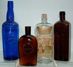 Click photo to see larger pic of Antique Spirits Bottles