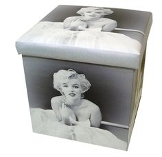 ???Marilyn Monroe Bubble Gum Padded Ottoman Folding Storage Box Blacku0026Pink? | Bubble gum Storage boxes and Box  sc 1 st  Pinterest & ???Marilyn Monroe Bubble Gum Padded Ottoman Folding Storage Box ...