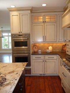 American Woodmark Savannah Double Cabinets And Open