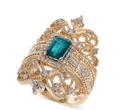 Brasilica by EFFY® Emerald ct.) and Diamond .- Brasilica by EFFY® Emerald ct.) and Diamond ct.) Ring in Gold, Created for Macy's Brasilica by EFFY Emerald ct.) and Diamond ct.) Ring in Gold - Diamond Jewelry, Gemstone Jewelry, Gold Jewelry, Jewelry Box, Jewelry Rings, Vintage Jewelry, Jewelry Watches, Jewelry Accessories, Fine Jewelry