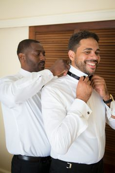 Modern Black and White California Wedding